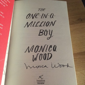 The One in a Million Boy Monica Wood signed book