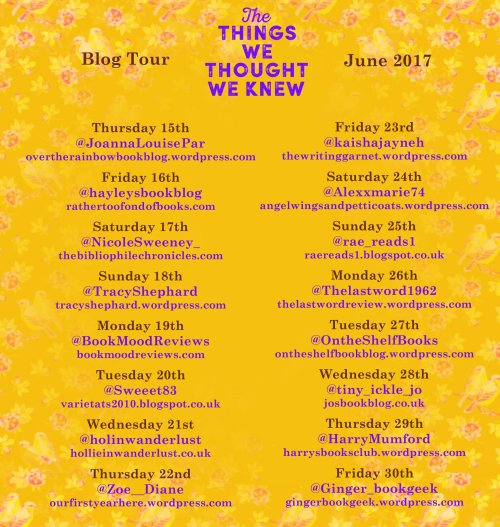 The Things We Thought We Knew Tour Poster