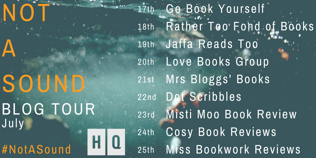 NOT A SOUND blog tour graphic