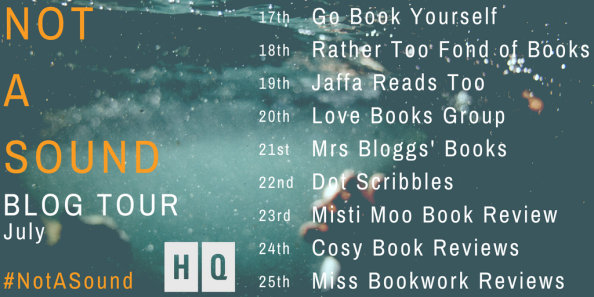 NOT A SOUND blog tour graphic