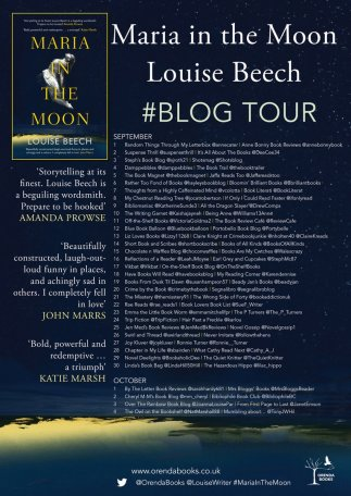 maria in the moon louise beech blog tour poster