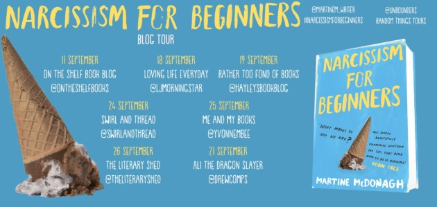 Narcissim for Beginners Blog Tour poster