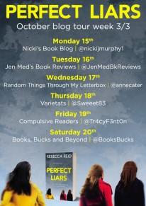 Perfect Liars rebecca reid Blog Tour Poster