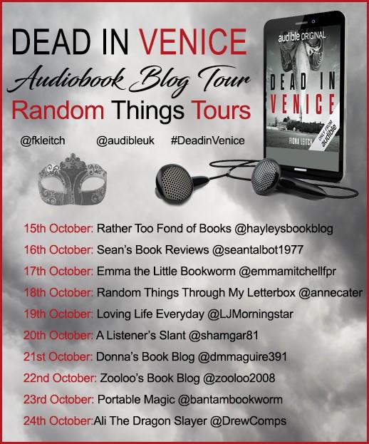 Dead in Venice Blog Tour poster