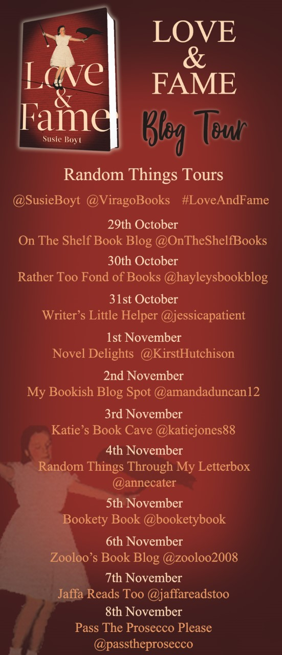Final Love and Fame Blog Tour Poster