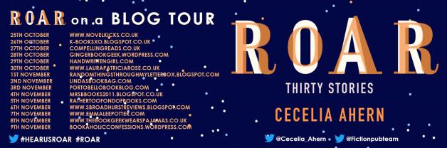 Roar blog tour banner