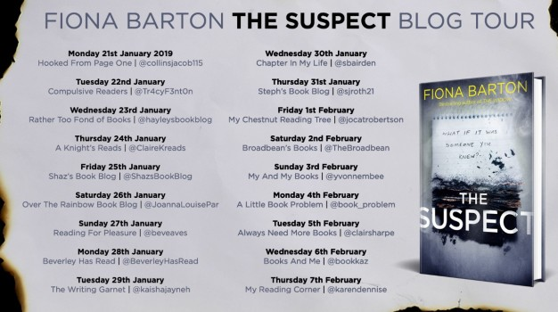 the suspect blog tour poster