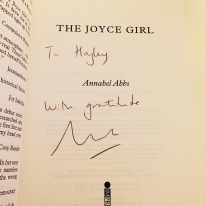 the joyce girl annabel abbs signed copy