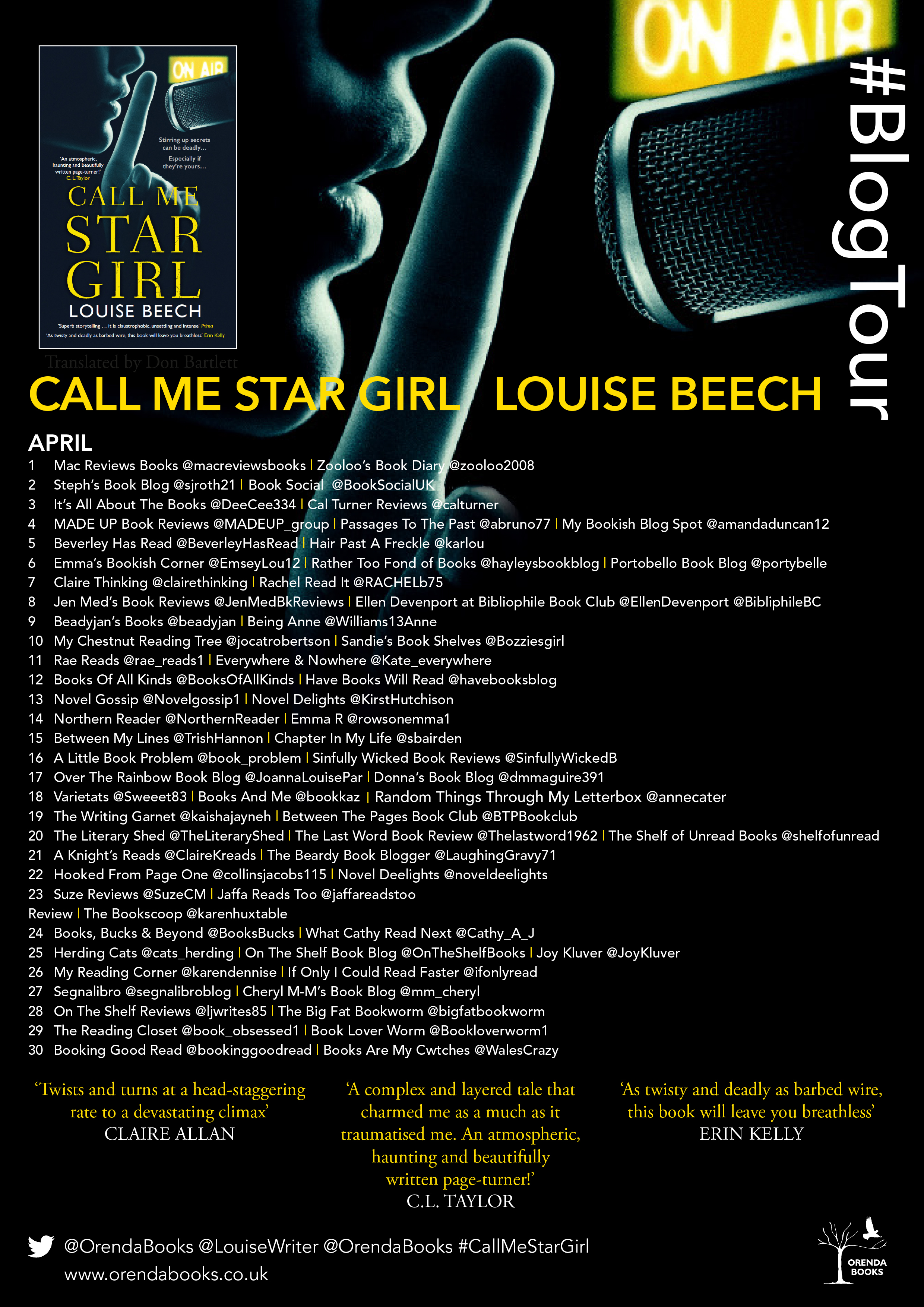 call me star girl blog poster 2019