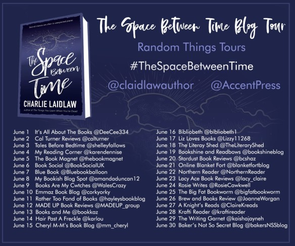 The Space Between Time Blog Tour Poster