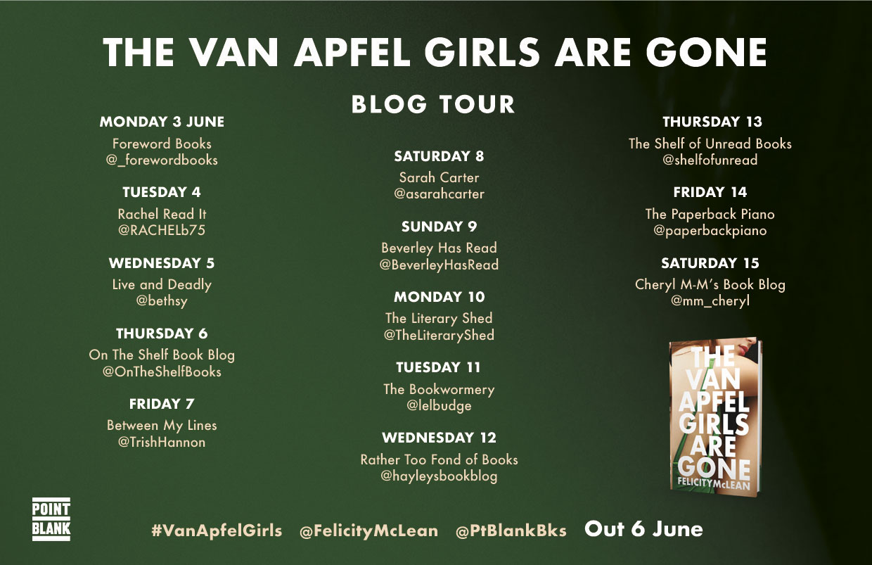 Van Apfel Girls are Gone Blog tour Poster