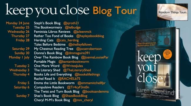 Keep You Close Blog Tour Poster