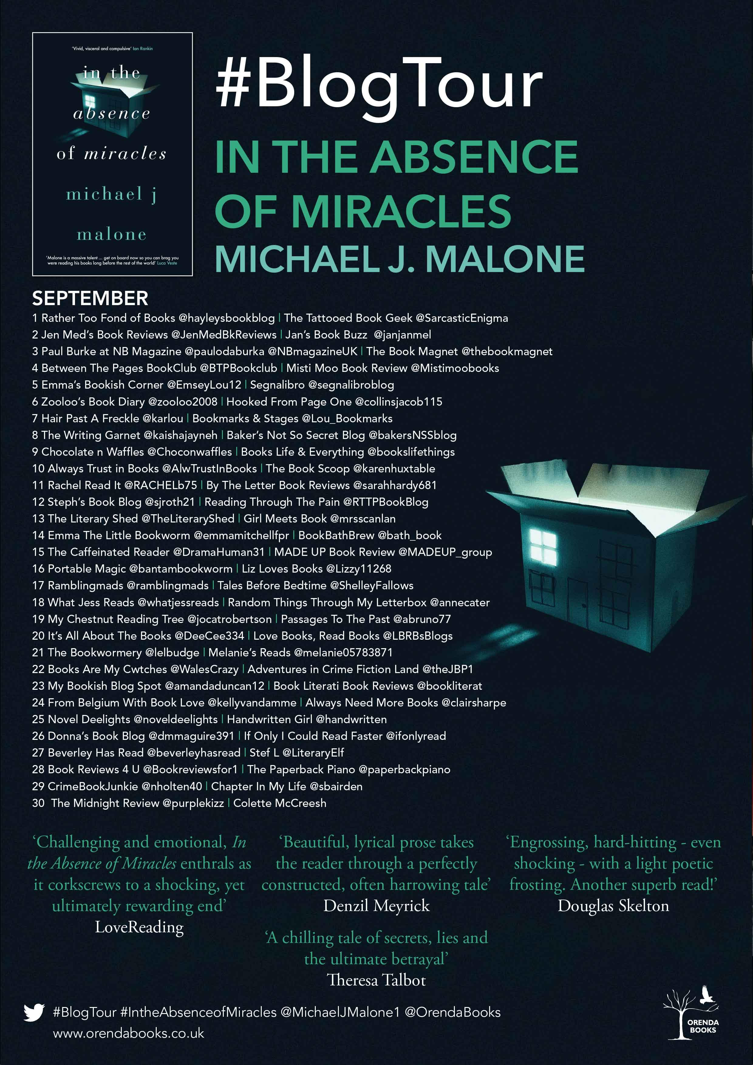 In The Absence of Miracles BT Poster